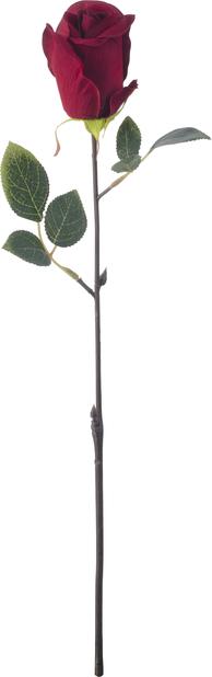 Rose kunstig, Høyde 45 cm, Rød