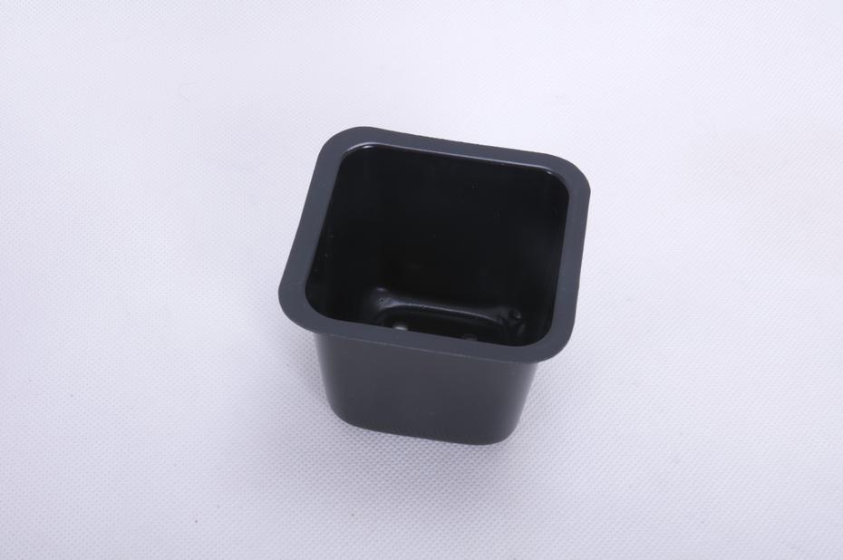 Plastpotte firkant 8 x 8cm 25 pk