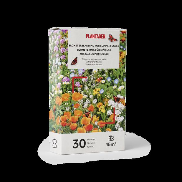 Blomsterblandning for sommerfugler, 15 m2, Flerfarget