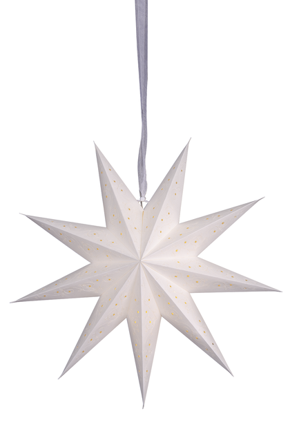 Julestjerne Wilma , Lengde 45 cm, Hvit