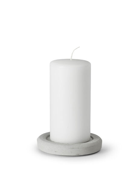 Kubbelysholder, Ø12 cm, Grå