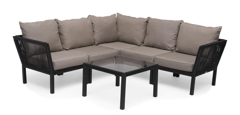 Sofagruppe Hörle , 5 sitteplatser, Svart