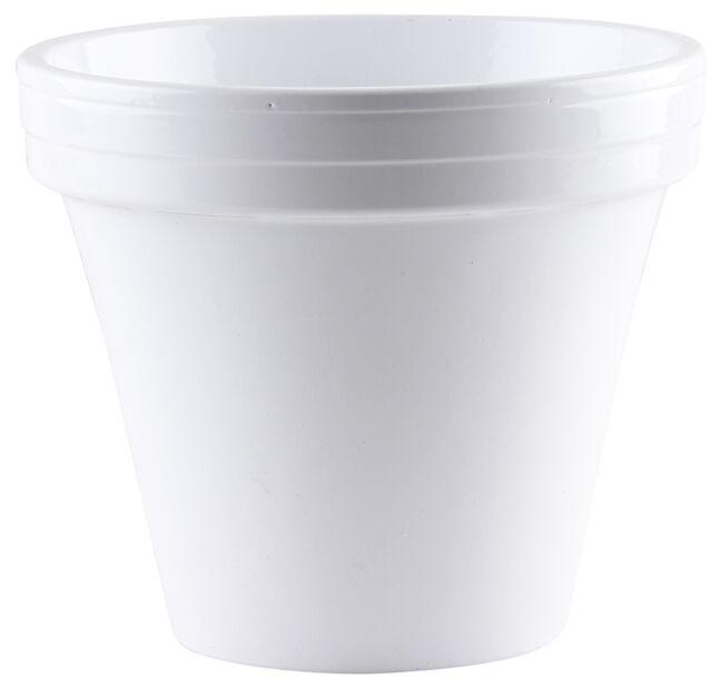 Potte , Ø15 cm, Hvit