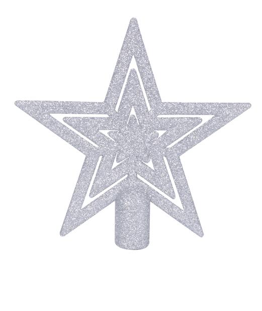 Toppstjerne 16,5 cm , Ø16 cm, Sølv