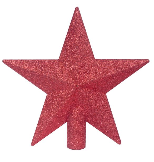 Juletrestjerne Glitter, Ø20 cm, Grå