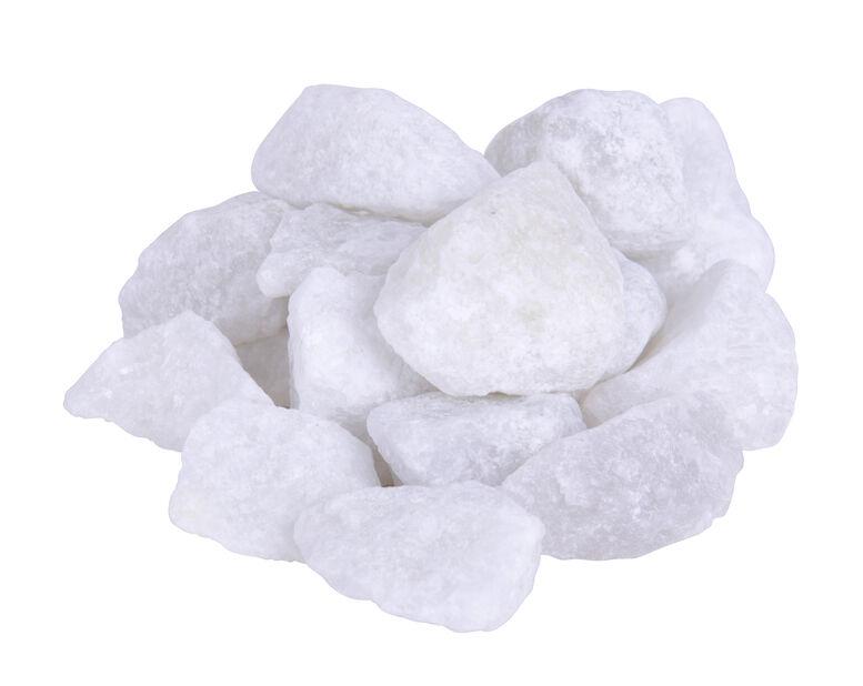 Knust stein, 10 kg, Hvit