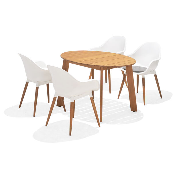 Spisegrupp Viborg, 4 sitteplatser, Hvit