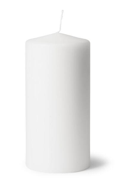 Blokklys, Høyde 20 cm, Hvit