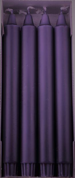 Kronelys 8 pk, Lengde 24 cm, Lilla