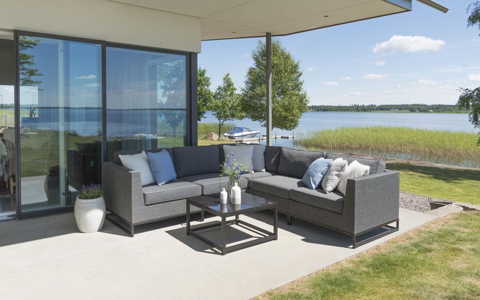 Lounge Set Adelshamn, 5 sitteplatser, Grå