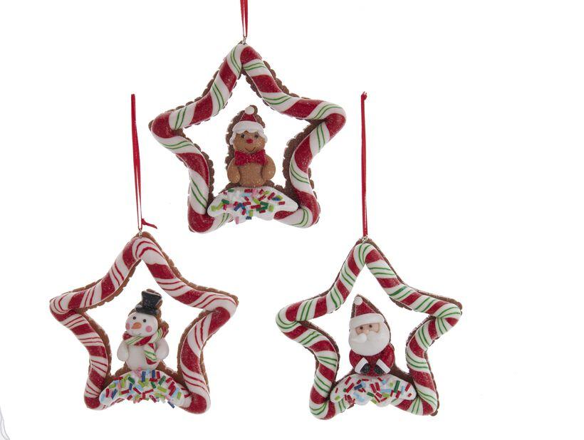Juletrepynt Godteristjerne, Høyde 12 cm, Flerfarget