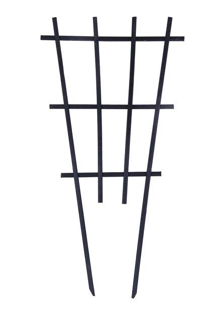 Espaljer for potte, Høyde 55 cm, Svart