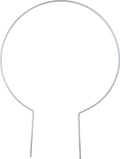 Espalje rund, Ø25 cm, Grå