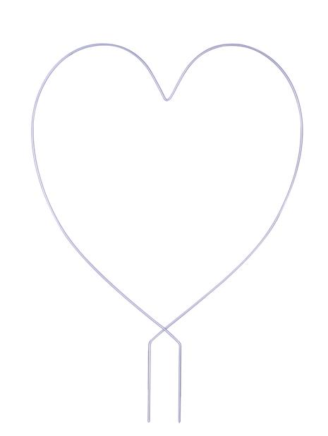 Espaljer hjerte, Høyde 38 cm, Grå