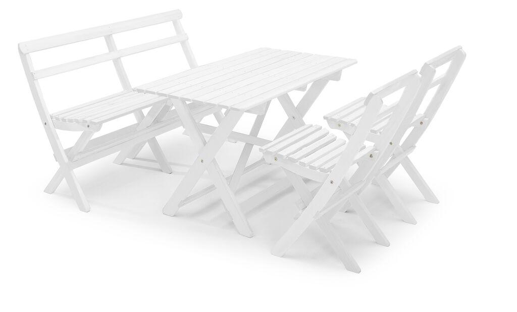 Spisegruppe Torpet , 4 sitteplatser, Hvit