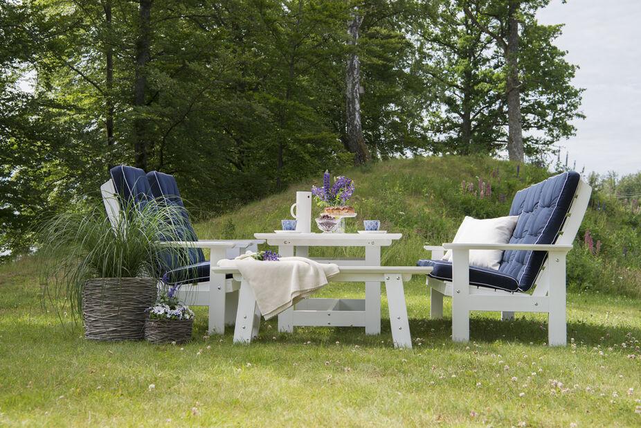 Sofagruppe Herrgård , 4 sitteplatser, Hvit