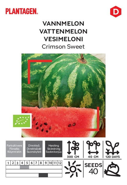 Vannmelon 'Crimson Sweet'