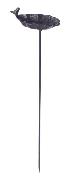 Fuglebad på pinne, Lengde 85 cm, Rust