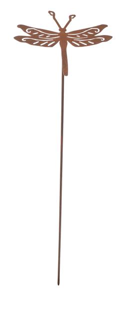 Dekorasjonspinne øyenstikker, Lengde 50 cm, Rust