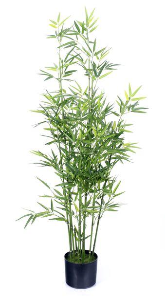 Bambus i potte kunstig, Høyde 122 cm, Grønn
