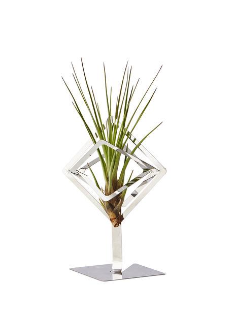 Sam luftplante-holder 15,5cm sølvfarget