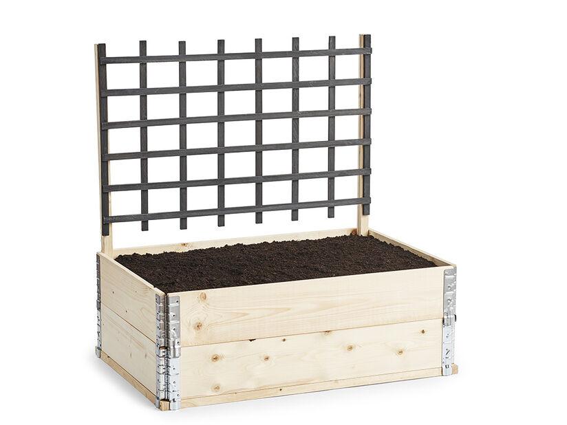 Stolpe dyrkingskasse, Lengde 100 cm, Tre