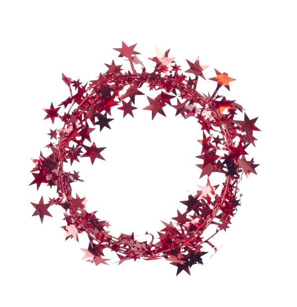 Stjerneglitter, Lengde 2.7 m, Rød