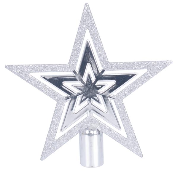 Toppstjerne Tess, Ø16 cm, Sølv
