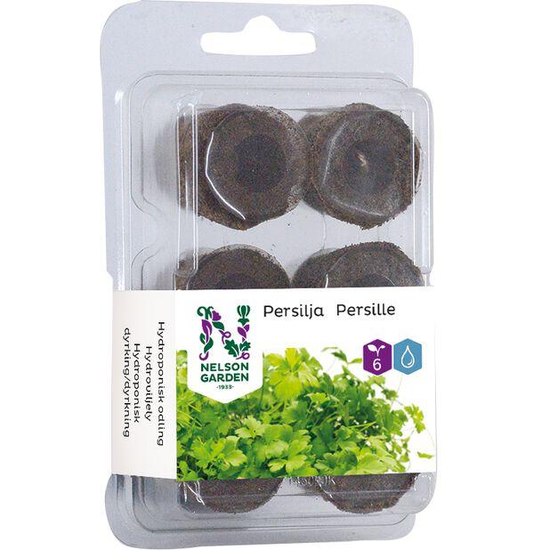 Hydroponisk planteplugg persille, 6 pk, Flerfarget
