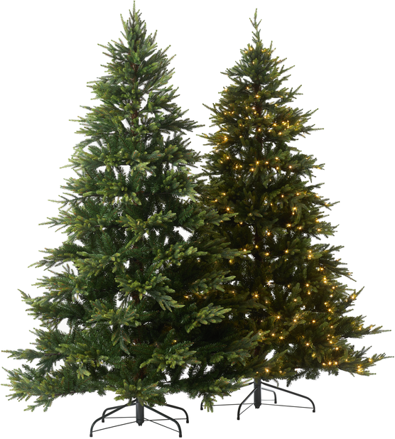 Kunstig juletre Uvdal med lys 210 cm
