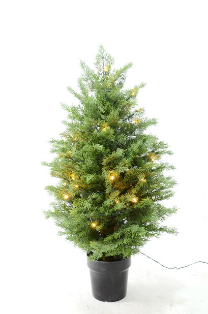 Kunstig juniperus med lys 90 cm