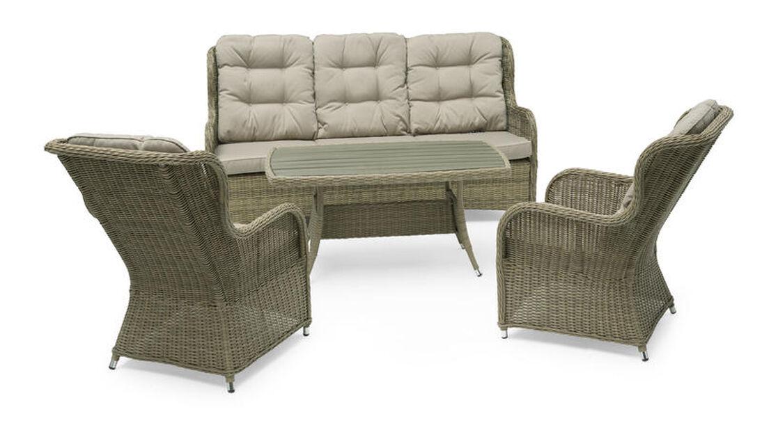 Sofagruppe Lotus, 5 sitteplatser, Beige