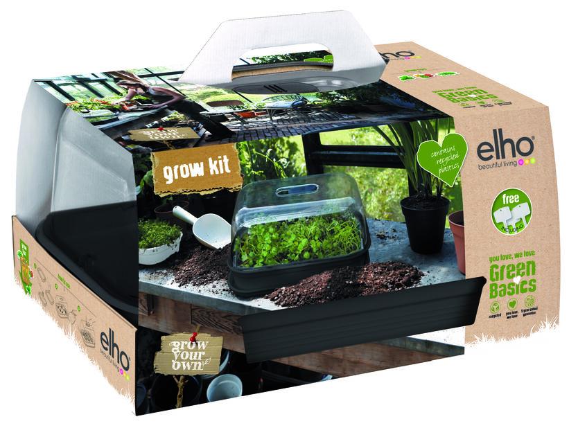 Dyrkesett Green Basics Grow Kit All in one, Lengde 49 cm, Svart