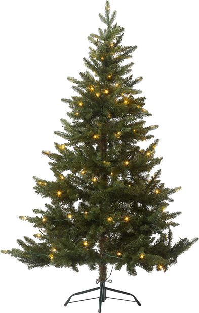 Kunstig juletre Hurdal med lys, Høyde 150 cm, Grønn