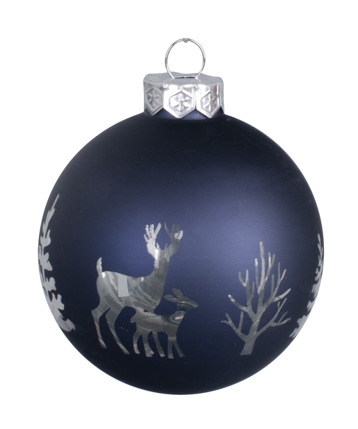 Juletre pynt Midnight Forest 8 cm, glass