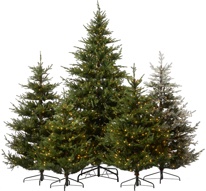 Kunstig juletre Langfjella med lys 300 cm