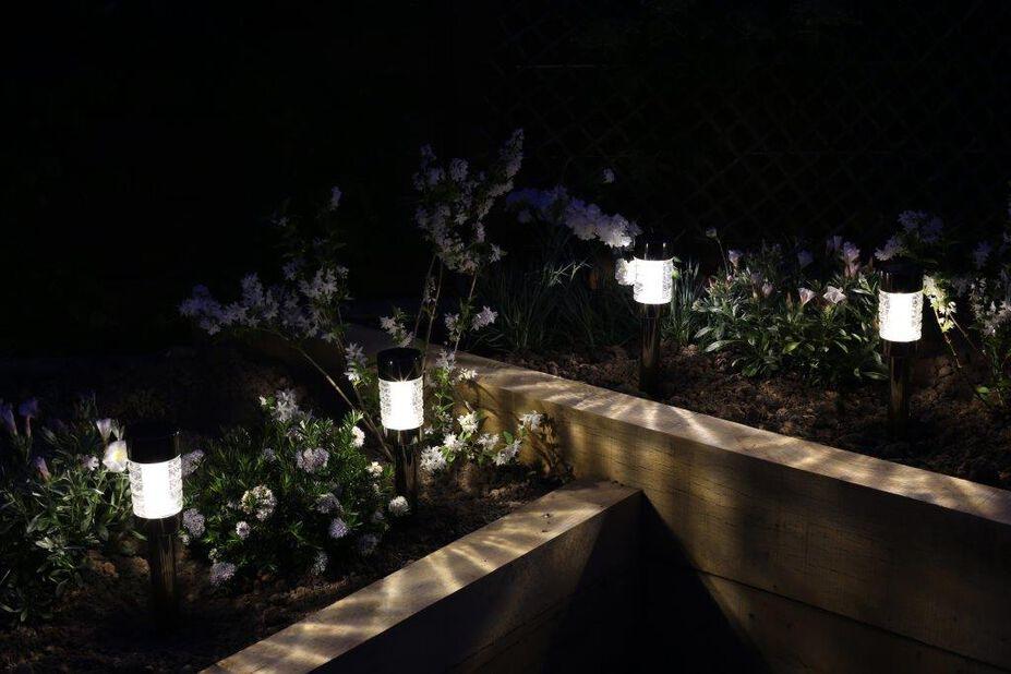 Solcelledrevet lysarmatur Rennes, Høyde 44 cm, Grå