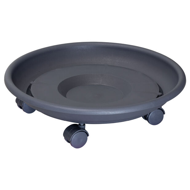 Potteunderlag med hjul Multi Roller, Ø34 cm, Grå