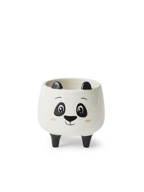 Minipotte Panda, Ø8.5 cm, Hvit