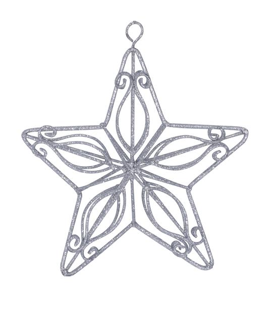 Juletre pynt Silver Star, Ø14 cm, Sølv