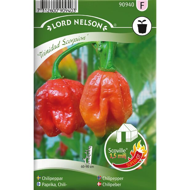 Chilipepper  'Trinidad Scorpion', Flerfarget