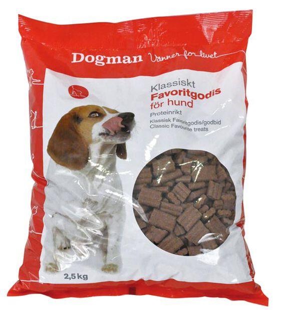 Hundegodteri Dogman Favorittgodis, 2.5 kg, Brun