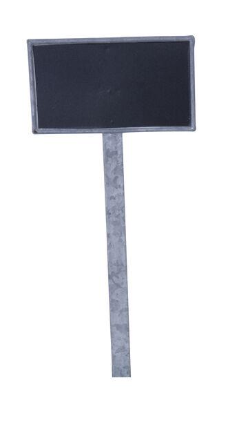 Planteetikett Tyra med tavle, Høyde 29 cm, Sølv