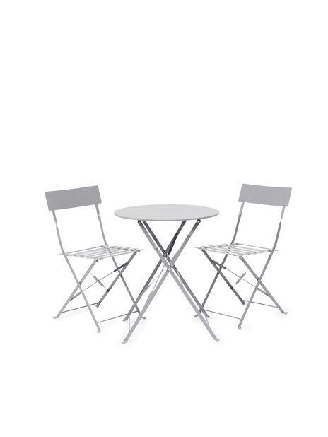 Kafésett Molly 1+2, 2 sitteplatser, Grå