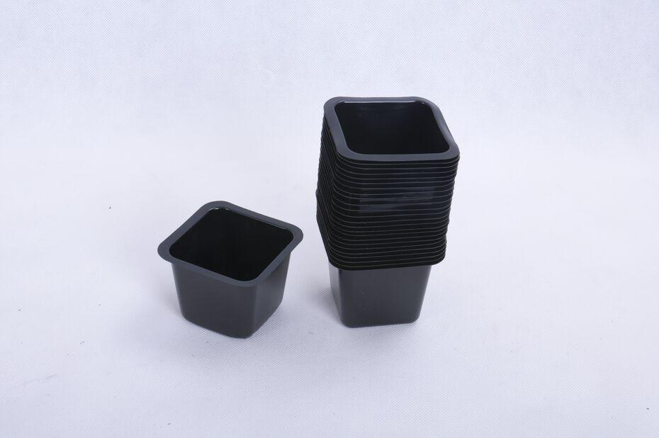 Plastpotte firkantet, 25-pk., Bredde 9.5 cm, Svart