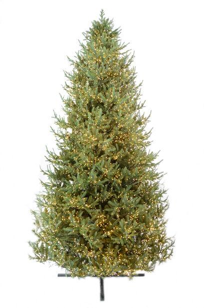 Kunstig juletre Langfjella med lys, Grønn