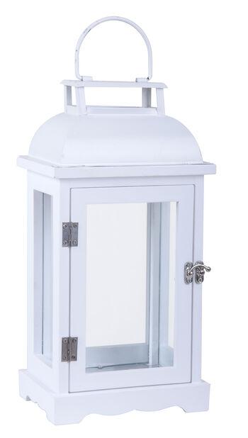 Lanterne Viktor hvit h 33,5cm, Høyde 33 cm, Hvit