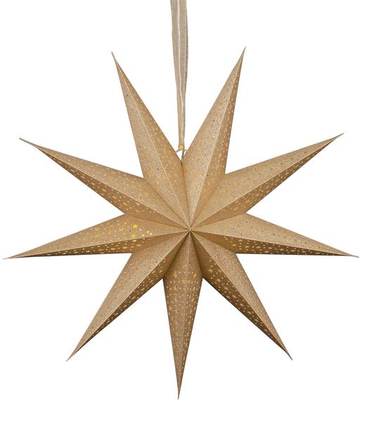 Julestjerne Gloria med LED-belysning, Lengde 60 cm, Gull