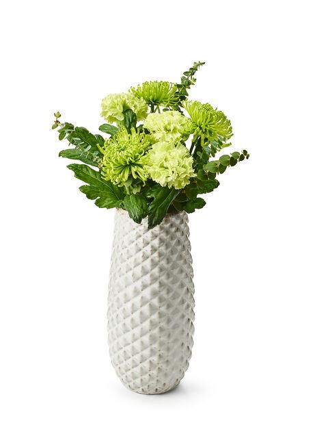 Vase Jonna h 31 hvit