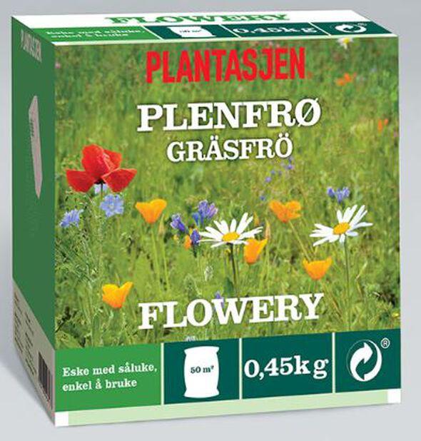 Plenfrø blomstereng, 450 g, Flere farger